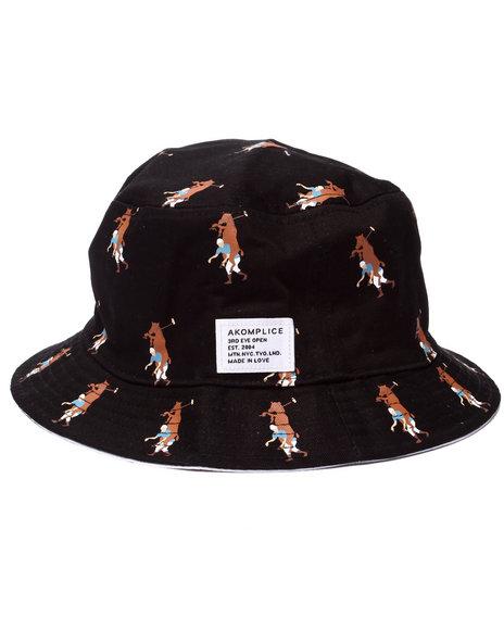 Ur-ID 218922 Akomplice - Men Black,White Olop Reversible Bucket Hat