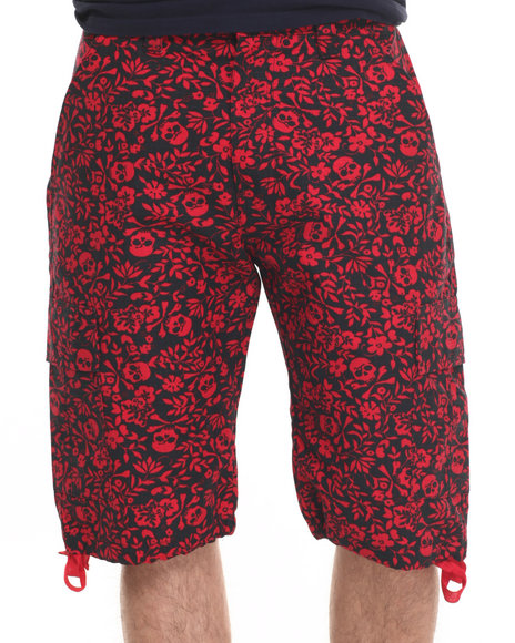 Ur-ID 218925 Basic Essentials - Men Red Skull / Flower Shorts