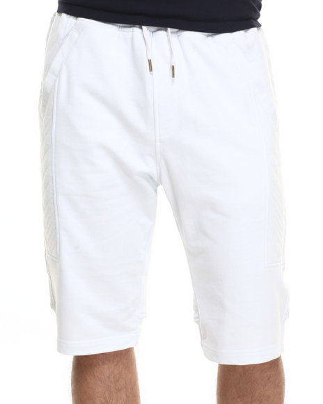 Allston Outfitter - Men White Quilted Panel Jogger Short