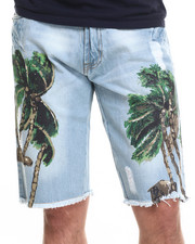 Basic Essentials - Coconut Tree Denim Shorts