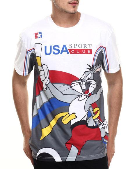 Ur-ID 218947 Looney Tunes - Men White Marathon Bunny S/S Tee