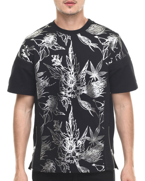 Allston Outfitter - Men Black Cronic Jungle S/S Knit T-Shirt