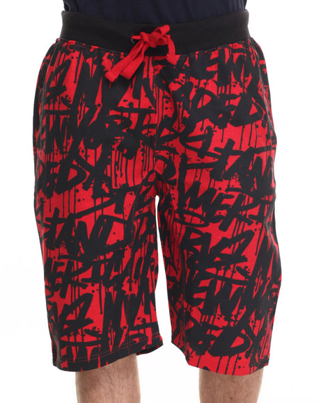 Basic Essentials - Men Red Tag Da City Fleece Shorts - $20.99