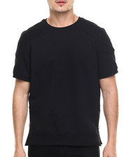 T-Shirts - Quilted Shoulder T-Shirt