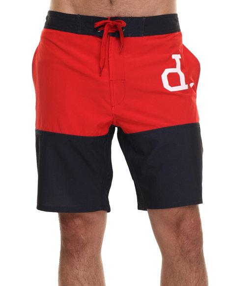 Ur-ID 218971 Diamond Supply Co - Men Navy,Red Un Polo Boardshorts