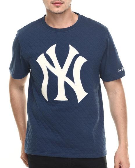 Ur-ID 218974 American Needle - Men Navy New York Yankees Pinnacle Quilted S/S Tee