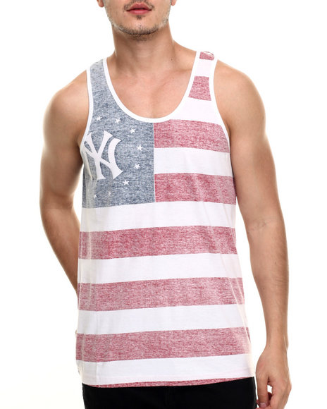 American Needle - Men White New York Yankees Salute Premium Tank Top