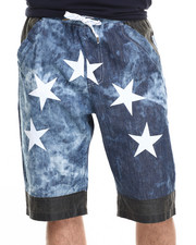 Allston Outfitter - Vintage Panel Acid Wash Chambray Shorts
