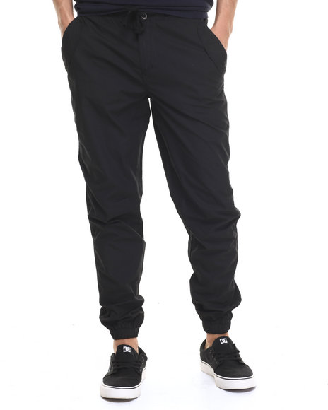 Buyers Picks - Men Black Outdoors Poplin Jogger Pants