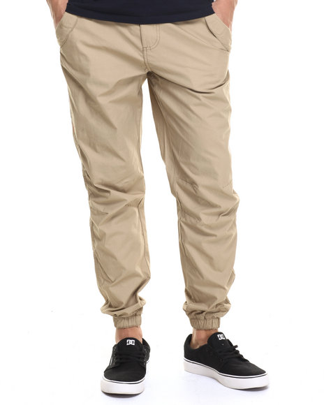 Buyers Picks - Men Khaki Outdoors Poplin Jogger Pants