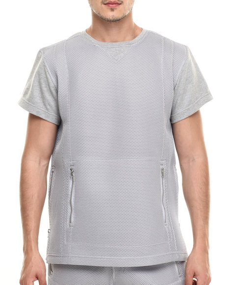 Ur-ID 218963 Allston Outfitter - Men Grey Honey Comb Mesh T-Shirt