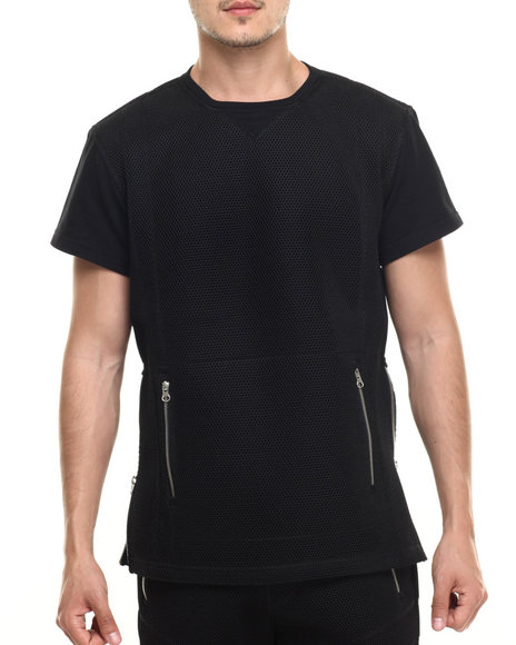 Allston Outfitter - Men Black Honey Comb Mesh T-Shirt