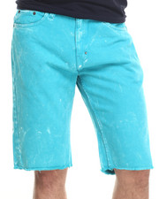 Basic Essentials - Bejeweled Colored Denim Shorts