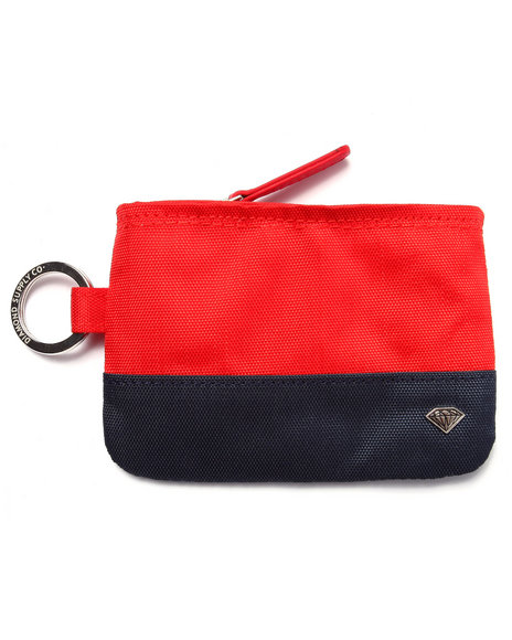 Diamond Supply Co Men Dlyc Zip Wallet Red - $25.99