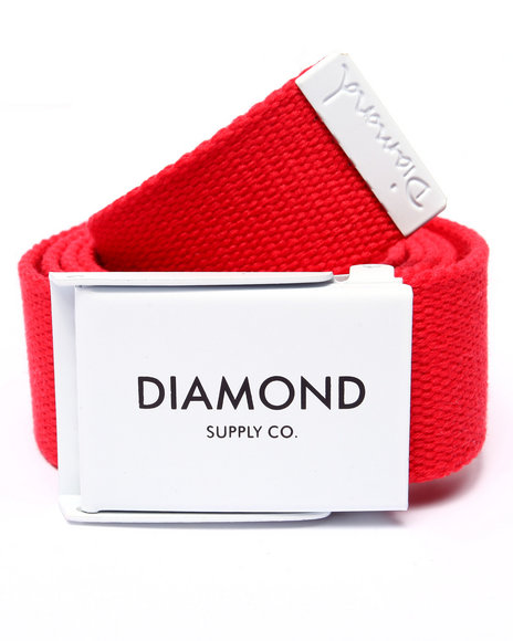 Diamond Supply Co Men Dlyc Clamp Belt Red - $38.00