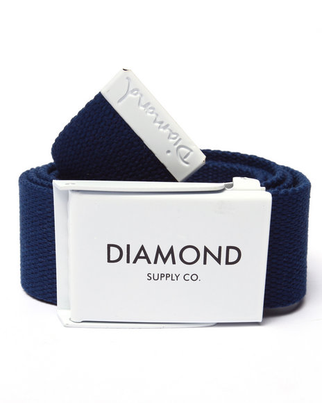 Diamond Supply Co Men Dlyc Clamp Belt Navy - $38.00