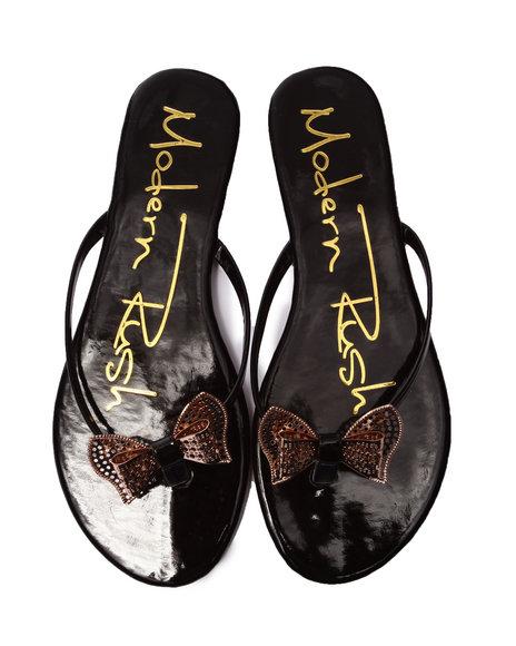 Fashion Lab - Women Black Venice Flip Flop