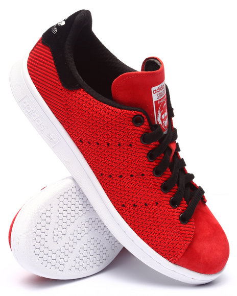 Adidas - Men Red Stan Smith Weave