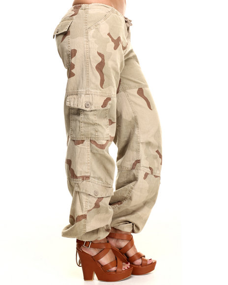 Ur-ID 217079 DRJ Army/Navy Shop - Women Camo Rothco Womens Camo Vintage Paratrooper Fatigue Pants