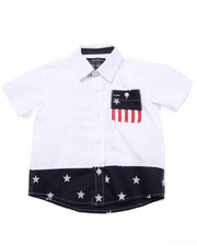 Button-downs - STARS & STRIPES WOVEN (2T-4T)