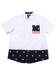 Button-downs - STARS & STRIPES WOVEN (8-20)