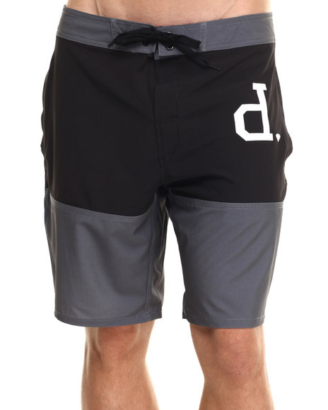 Diamond Supply Co - Men Black Un-Polo Board Shorts