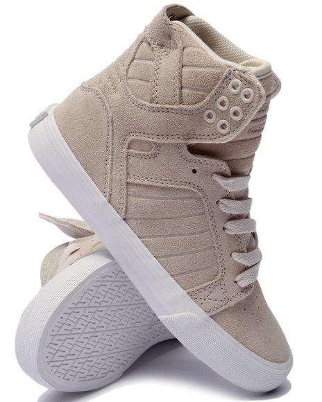 Ur-ID 219057 Supra - Women Cream Skytop Cream Suede Sneaker