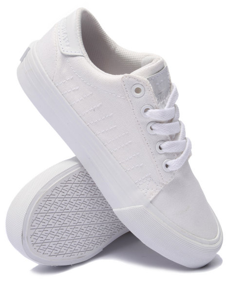 Ur-ID 219058 Supra - Women White Belmont Waxed Canvas Low Cut Sneakers