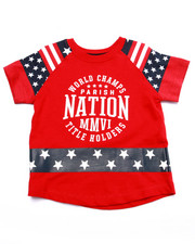 Tops - ELONGATED STAR & STRIPES TEE (2T-4T)