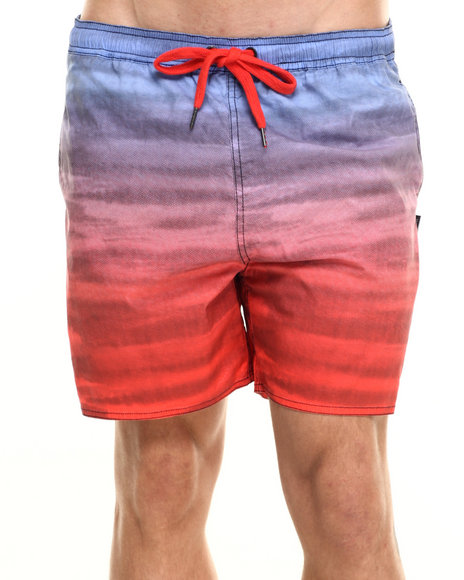 Insight - Men Blue,Red Rainbow Beach Short