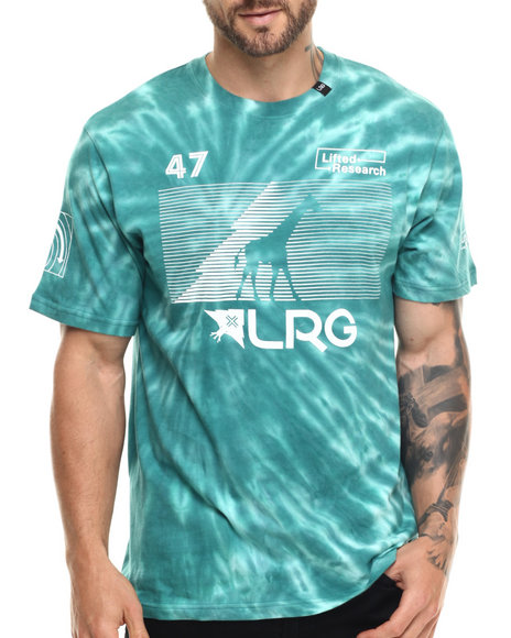 LRG - Men Green Rc Tie Dye T-Shirt