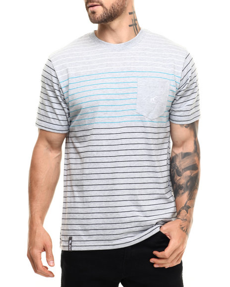 LRG - Men Grey Rc Stripe T-Shirt