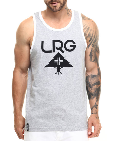 Lrg - Men Grey Research Collection Tank