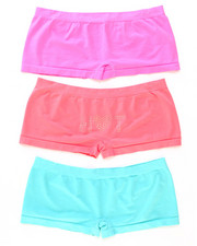 DRJ Lingerie Shoppe - Hot Rhinestones 3Pk Seamless Shorts (Plus)