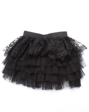 Bottoms - Lace/Tulle Tiered Ruffle Skirt (7-16)