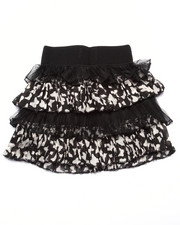 Sizes 4-6x - Kids - Lace/Sateen Butterfly Print Tiered Skirt (4-6x)