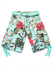 Arcade Styles - FLORAL TWILL CARGO SHORTS (8-20)