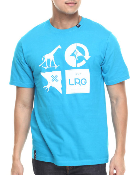 Lrg - Men Blue Rc Logo Mash Up T-Shirt