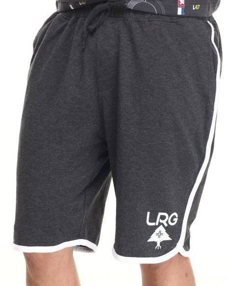 Lrg - Men Charcoal Rc Jersey Scallop Short