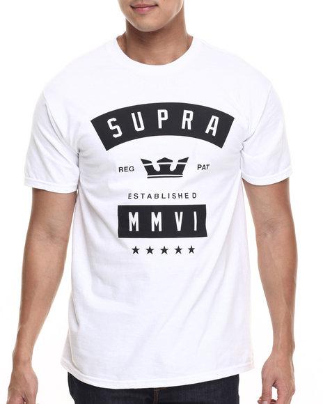 Ur-ID 219110 Supra - Men White Banner Tee