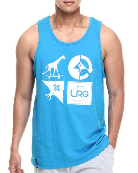 Ur-ID 219117 LRG - Men Blue Rc Mash Up Tank
