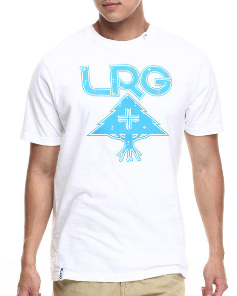 LRG - Men White Palm Grove Icon T-Shirt