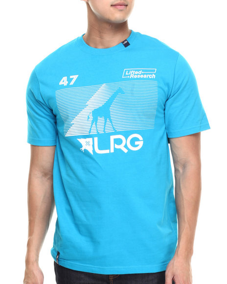 LRG - Men Blue Rc Multi Hit T-Shirt