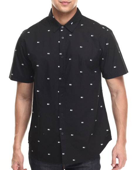 Ur-ID 219139 KR3W - Men Black Winston S/S Button-Down