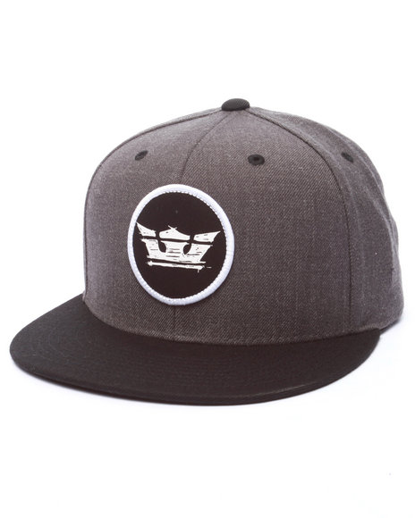 Supra Men Sketchy Icon Snapback Cap Grey