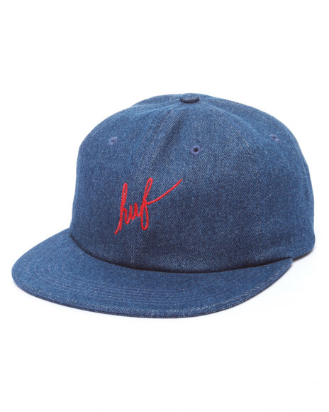 Huf Men Denim Script 6-Panel Cap Indigo