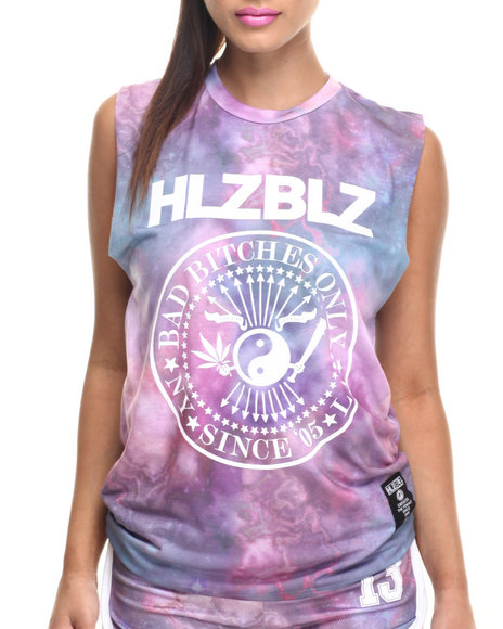 Ur-ID 219091 Hellz Bellz - Women Purple Balance B*Tches Tank Top