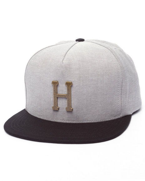 Huf - Men Black Winfield Metal H Snapback Cap