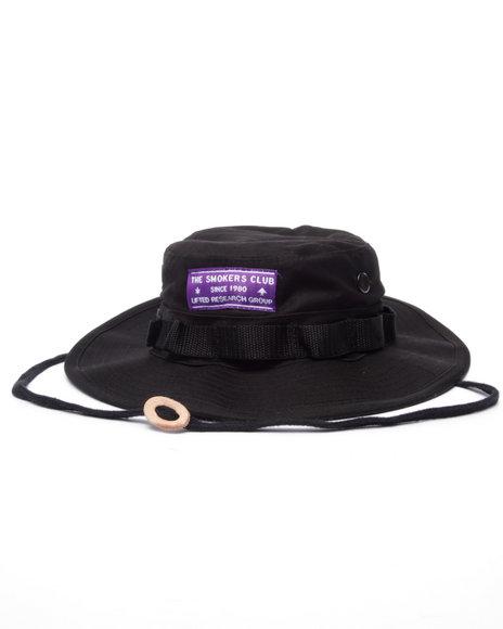 Lrg - Men Black Members Boonie Hat