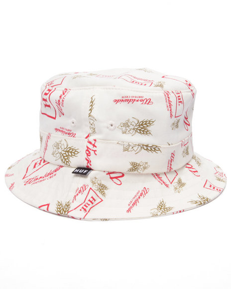 Ur-ID 219159 HUF - Men Cream Drink Up Bucket Hat